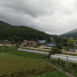 비밥 드론 항공 촬영| 시골집 풍경
