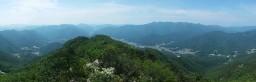 청화산 파노라마   시골집 풍경