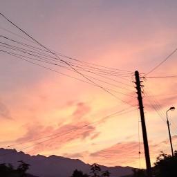 불타는 노을 그리고 초생달 | 한여름밤의 풍경