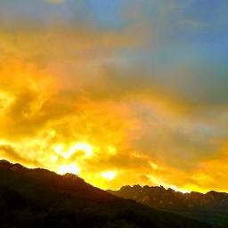 활활 불타오르는 속리산 | 저녁 노을 풍경